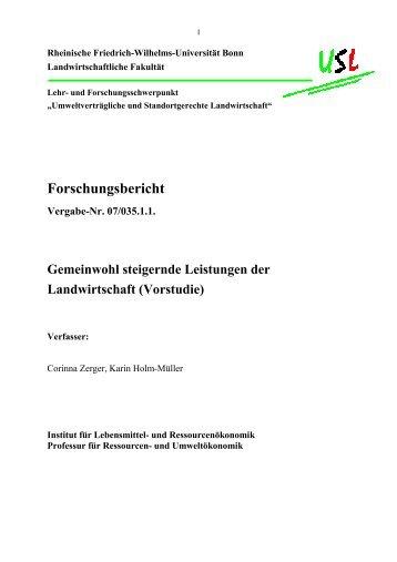 Endbericht - Institut für Lebensmittel- und Ressourcenökonomik ...
