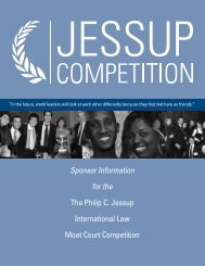 Sponsor Information for the The Philip C. Jessup International Law ...