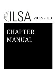 Chapter Manual - International Law Students Association