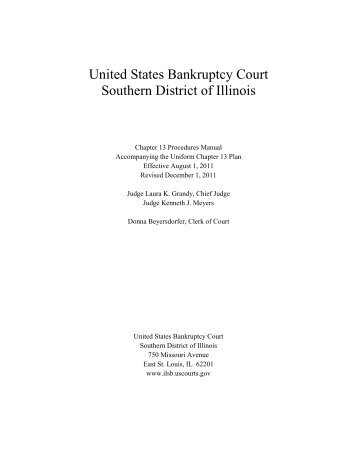1 United States Bankruptcy Court Southern District