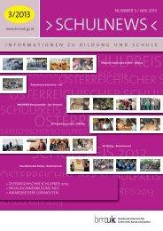 Schulnews Nr 3/2013 - Bundesministerium für Unterricht, Kunst und ...