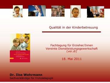 Qualität in der Kinderbetreuung - Ilse Wehrmann
