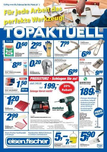 Für jede Arbeit das perfekte Werkzeug! - Eisen-Fischer GmbH