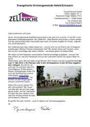 Evangelische Kirchengemeinde Ilsfeld/Schozach