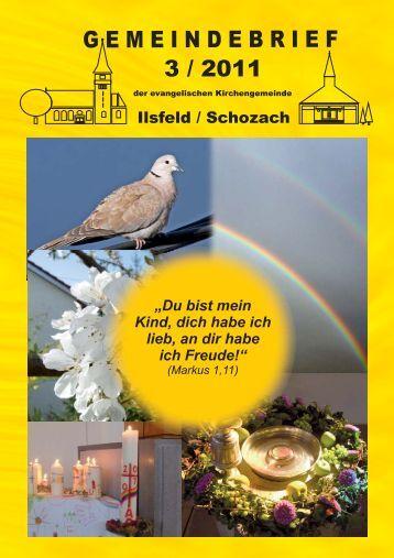 Gemeindebrief _3_2011.cdr - Evangelische Kirchengemeinde Ilsfeld