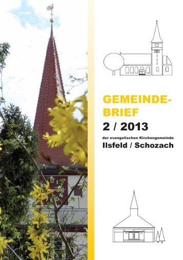 Gemeindebrief Ausgabe 2013-2 - Evangelische Kirchengemeinde ...