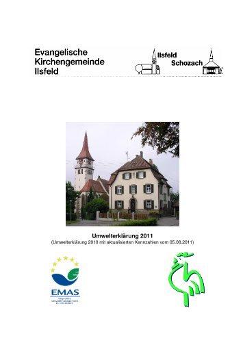 11-08-05 Umwelterklärung - Evangelische Kirchengemeinde Ilsfeld