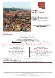 Bologna. Teatro Comunale - Il Sipario Musicale