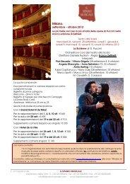 Milano. - Il Sipario Musicale