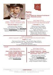 Il Festival Verdi - Il Sipario Musicale