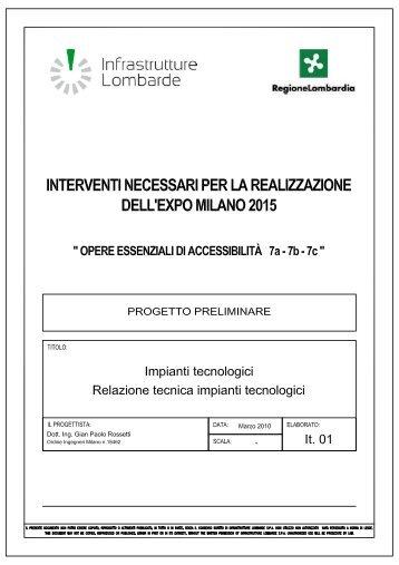 Indicazioni - Infrastrutture Lombarde
