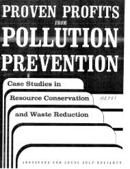 Proven Profits From Pollution Prevention - Institute for Local Self ...