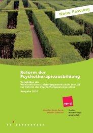 Reform der Psychotherapieausbildung - Nlp.de