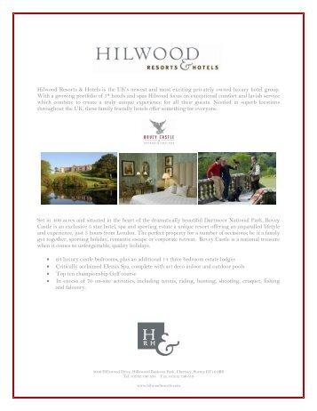 Hilwood Resorts & Hotels is the UK's newest - International Luxury ...