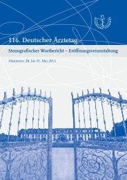 Stenografischer Wortbericht - Bundesärztekammer