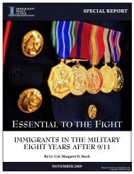 Immigrants in the Military cover 110909.indd - FosterQuan