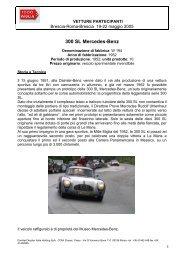 Vetture partecipanti alla Mille Miglia 2005 - Incognita Motorizzazione