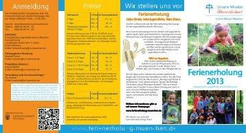 Ferienerholung 2013 (PDF) - Innere Mission München