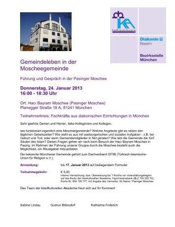 Einladung zum IKA Workshop: - Innere Mission München