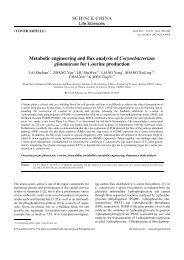 Metabolic engineering and flux analysis of Corynebacterium ...