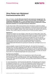 Ohne Pleiten kein Wohlstand Insolvenzursachen 2012 - KSV