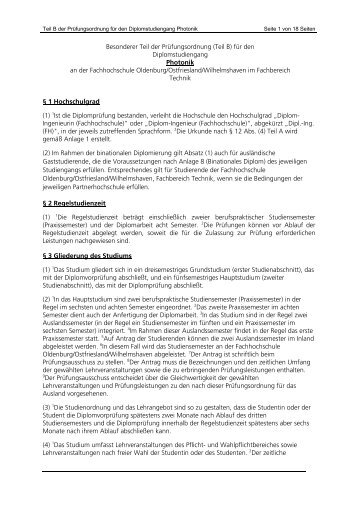 Photonik - Hochschule Emden/Leer