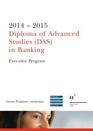 (DAS) in Banking - Swiss Finance Institute