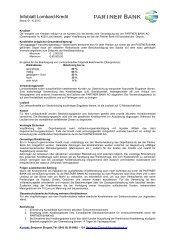 Kreditart Kredithöhe (möglicher Gesamtkreditbetrag ... - networx.at