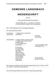 Gemeinderatssitzung vom 11.06.2013 - Langenbach
