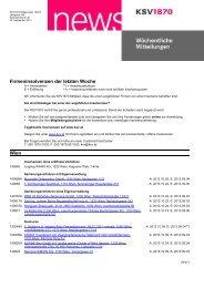 Wöchentliche Insolvenzen - KSV
