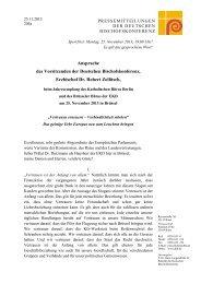 25.11.2013: Ansprache des Vorsitzenden der Deutschen ...