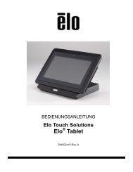 Übersichtsplan Tablet - Elo Touch Solutions