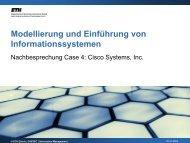 Modellierung und Einführung von Informationssystemen - ETH - IM ...