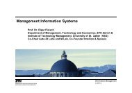Management Information Systems - Information Management - ETH ...