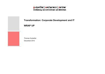 Transformation - ETH - IM - Information Management