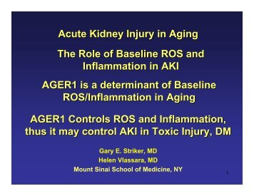 Molecular and cellular changes in acute kidney injury