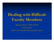 Dealing with Difficult Faculty Members