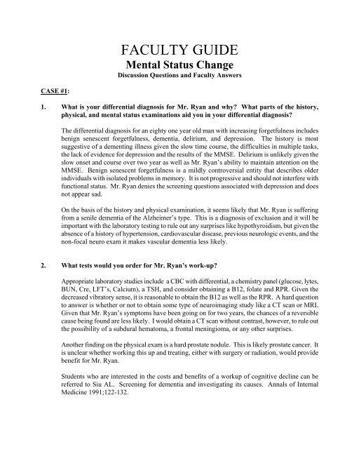 importance of mental status examination