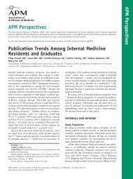 Publication Trends Among Internal Medicine Residents and Graduates