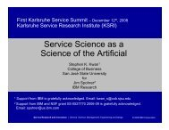 Service Science as a Science of the Artificial