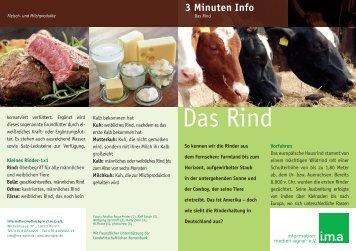 Das Rind - information.medien.agrar eV
