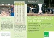 Massentierhaltung – was ist das? - information.medien.agrar eV