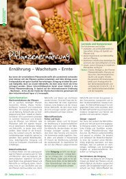 Pflanzenernährung - information.medien.agrar eV