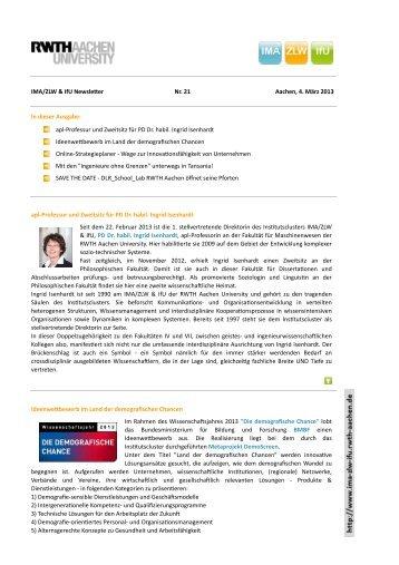 4. März 2013 - IMA,ZLW & IfU - RWTH Aachen University