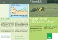 Agrarchemie – geht's auch ohne? - information.medien.agrar eV
