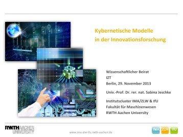 Kybernetik - IMA,ZLW & IfU - RWTH Aachen University