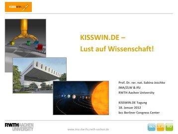 KISSWIN.DE - IMA,ZLW & IfU - RWTH Aachen University