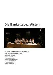 Bankett- und Eventdokumentation PDF - bxa
