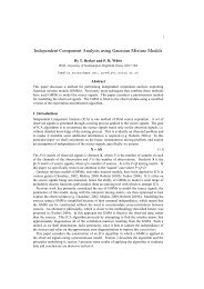 Independent Component Analysis using Gaussian Mixture Models