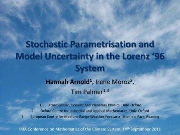 Stochastic Parametrisations